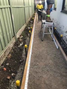 2969, Pascoe VIC, Porous Pathway, 6mm Charcoal Cream Before
